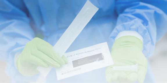 greitieji koronaviruso antigeno testai